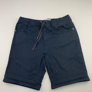 Boys Just Jeans, dark navy stretch cotton shorts, elasticated, GUC, size 12