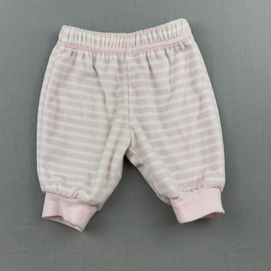 Girls Anko Baby, soft velour pants / bottoms, elasticated, EUC, size 000