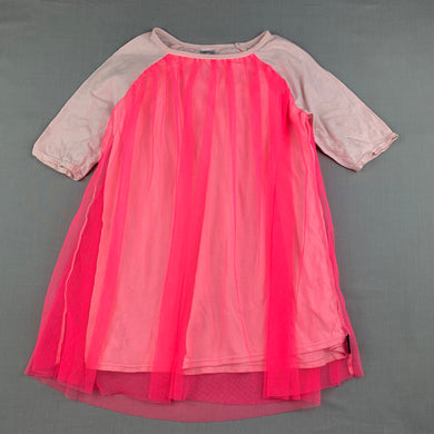 Girls Bonds, pink cotton & tulle party dress, FUC, size 2