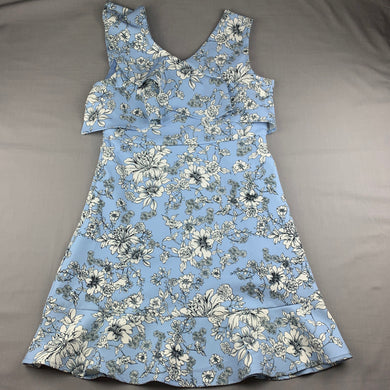 Girls Bardot Junior, lined floral party dress, L: 81cm, GUC, size 16