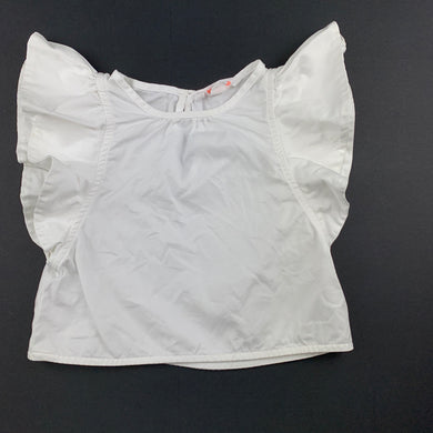 Girls Country Road, white stretch cotton top, EUC, size 2