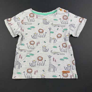 Boys Sprout, lightweight t-shirt / top, jungle animals, GUC, size 1