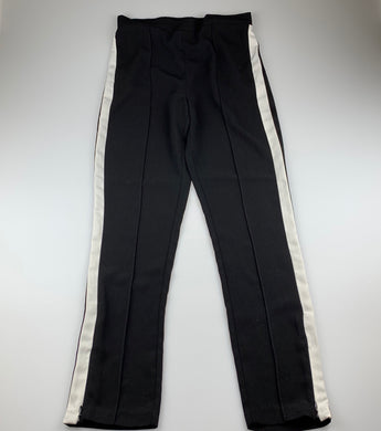 Girls Bardot Junior, black & white lightweight pants, elasticated, Inside leg: 72cm, GUC, size 16