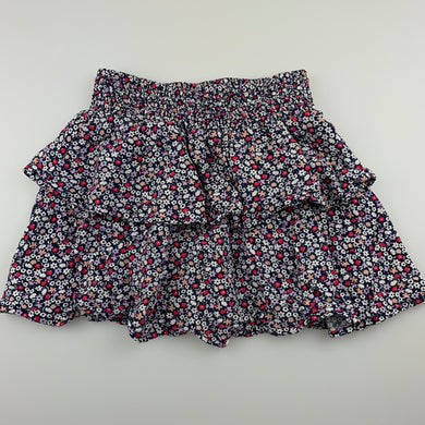 Girls Anko, lightweight tiered floral skirt, elasticated, GUC, size 6