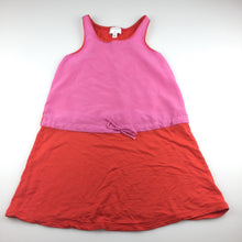 Load image into Gallery viewer, Girls Witchery, soft stretchy orange & pink party dress, GUC, size 4