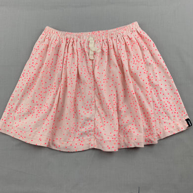 Girls Bonds, pink spotted soft cotton skirt, elasticated, EUC, size 6