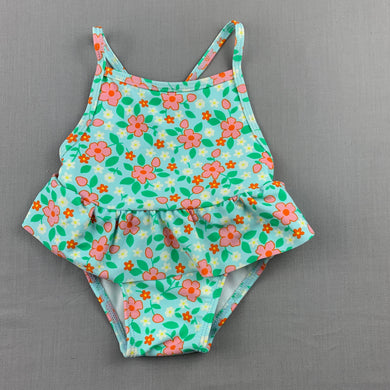 Girls Country Road, floral swim one-piece, EUC, size 000