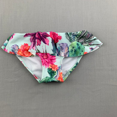 Girls Oovy, colourful floral swim bottoms, EUC, size 2