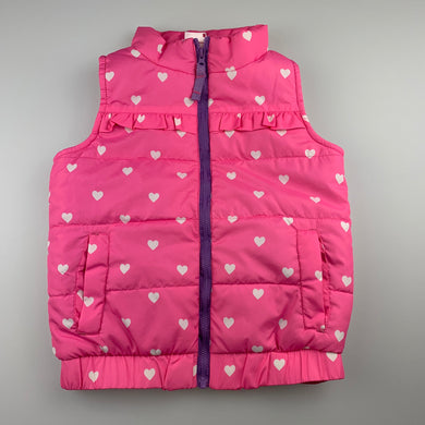Girls Angel 'n Disguise, pink puffer vest / sleeveless jacket, EUC, size 6