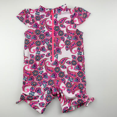 Girls Sprout, floral all-in-one rashie suit, EUC, size 2