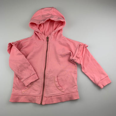 Girls Seed, pink cotton zip hoodie sweater, FUC, size 3