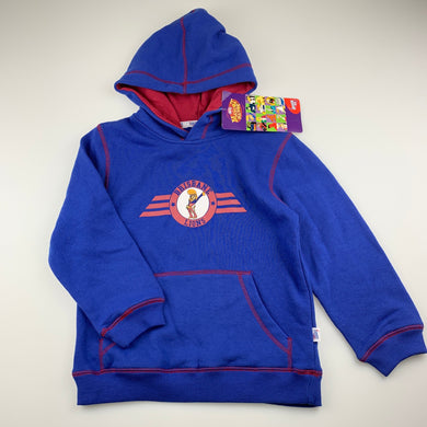 Unisex AFL Official, Brisbane Lions fleece lined hoodie sweater, NEW, size 6