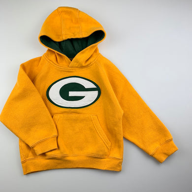 Unisex NFL Team, Green Bay Packers fleece lined hoodie sweater, GUC, size 2