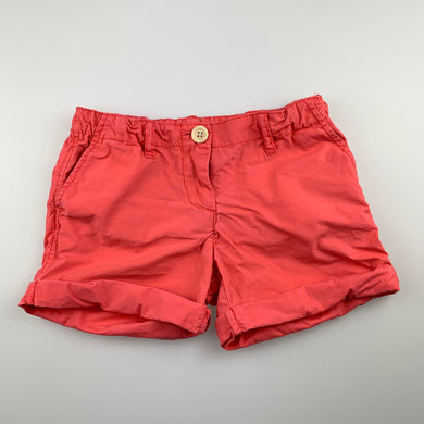 Girls Country Road, lightweight coral cotton shorts, adjustable, GUC, size 3
