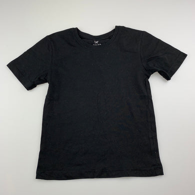 Unisex Favourites, black organic cotton t-shirt / top, EUC, size 5