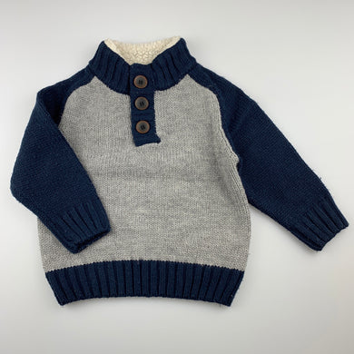 Boys Pumpkin Patch, chunky knit sweater / jumper, GUC, size 2
