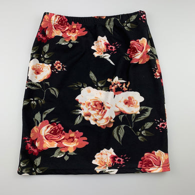 Girls Shein, lightweight stretchy floral skirt, elasticated, EUC, size 11-12