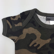 Load image into Gallery viewer, Boys Rock your baby, cotton camo print tee / top, GUC, size 00