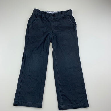 Boys 1/2 Pipe, dark blue cotton pants, adjustable, Inside leg: 43cm, GUC, size 4