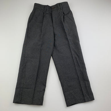 Boys Blue Sky, grey lightweight formal / suit pants, elasticated, Inside leg: 39.5cm, EUC, size 4