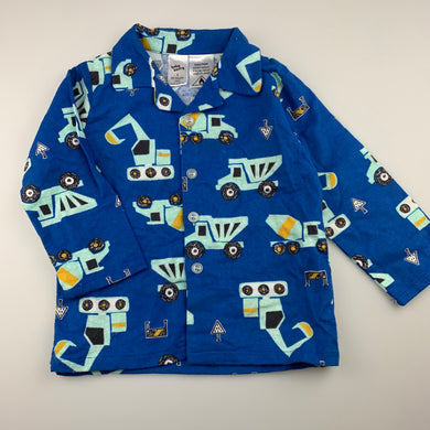 Boys Baby Berry, soft brushed cotton pyjama top, trucks, EUC, size 2