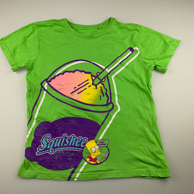 Unisex The Simpsons, green cotton t-shirt / top, GUC, size 9