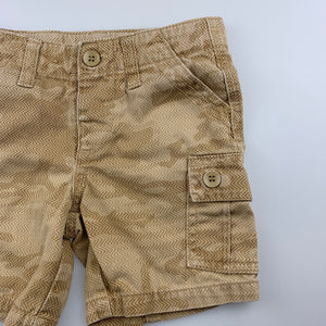 Boys Target, beige cotton cargo shorts, adjustable, GUC, size 2