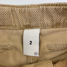 Load image into Gallery viewer, Boys Target, beige cotton cargo shorts, adjustable, GUC, size 2