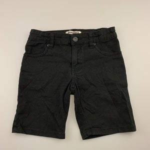 Boys Breakers, black stretch cotton shorts, adjustable, GUC, size 8