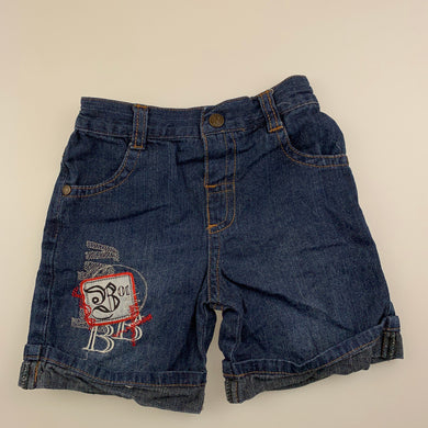 Boys Baby Baby, lightweight denim shorts, elasticated, GUC, size 00