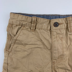Boys Target, beige cotton shorts, adjustable, GUC, size 6