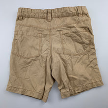 Load image into Gallery viewer, Boys Target, beige cotton shorts, adjustable, GUC, size 6
