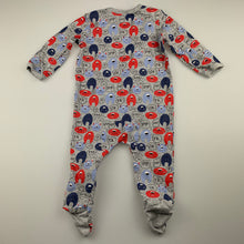 Load image into Gallery viewer, Boys Sprout, zip coverall / romper, monsters, FUC, size 00