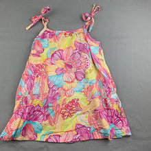 Load image into Gallery viewer, Girls Kids Stuff, floral lightweight cotton summer dress, GUC, size 1