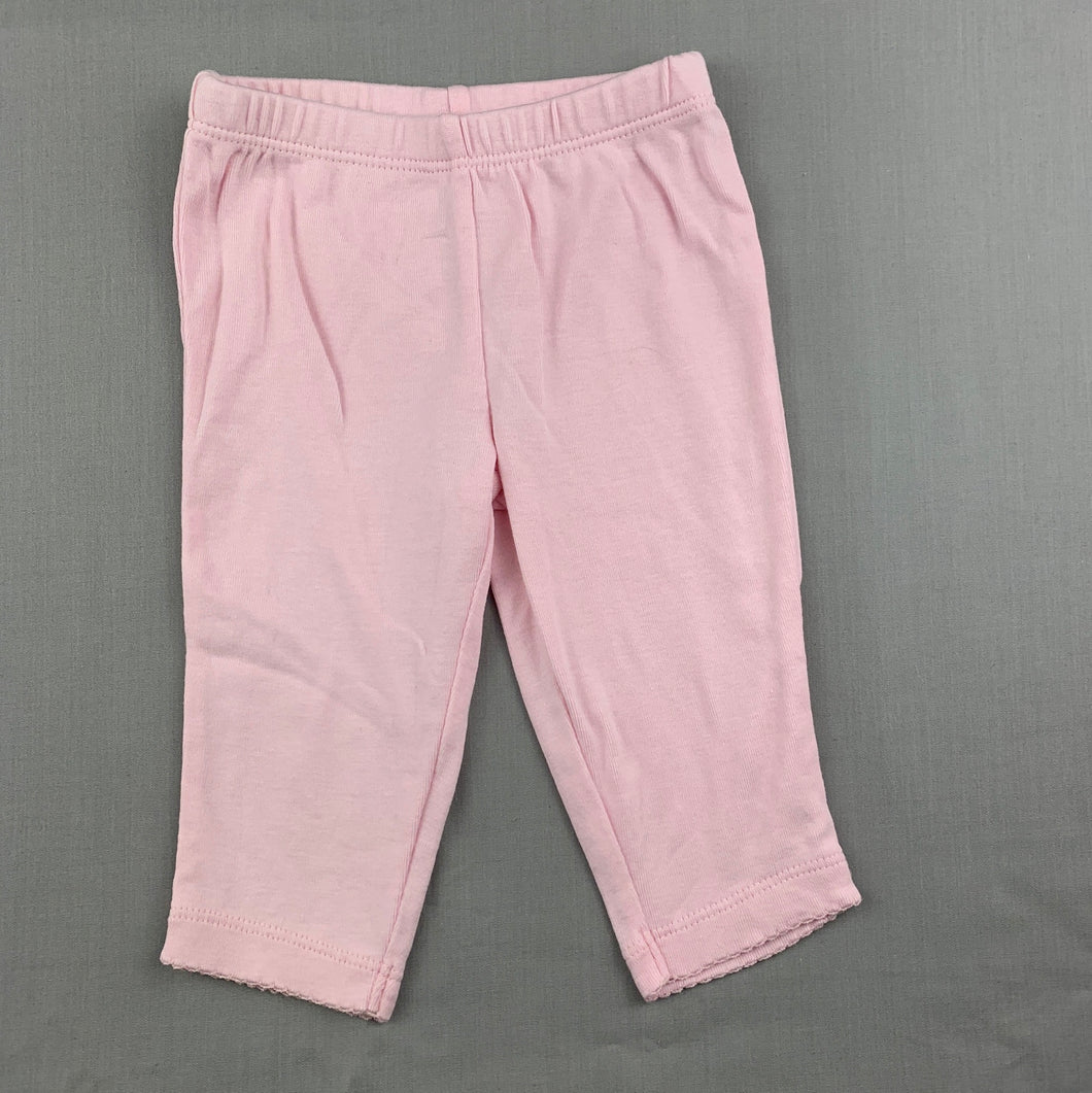 Girls Carter's, pink cotton leggings / bottoms, GUC, size 3 months