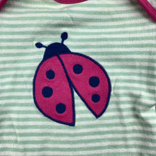Load image into Gallery viewer, Girls Kite, organic cotton bodysuit / romper, ladybird, GUC, size 0000
