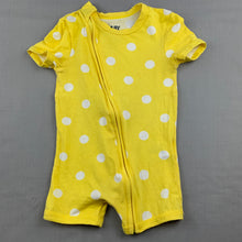 Load image into Gallery viewer, Unisex Cotton On Baby, yellow zip romper, GUC, size 1