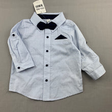 Load image into Gallery viewer, Boys Dymples, lightweight cotton shirt & bow tie, NEW, size 0