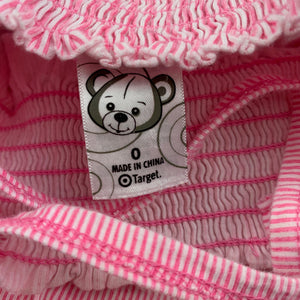 Girls Target, pink stripe soft cotton summer dress, EUC, size 0
