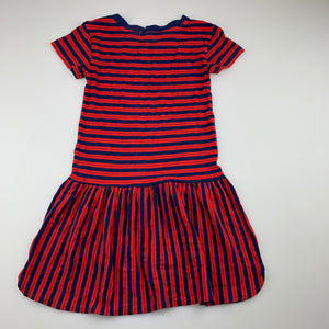 Girls Pumpkin Patch, striped soft stretchy casual dress, GUC, size 7