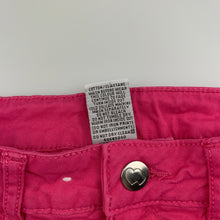 Load image into Gallery viewer, Girls Target, pink stretch cotton shorts, adjustable, EUC, size 5