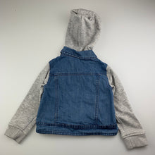 Load image into Gallery viewer, Girls Kids & Co, hooded denim jacket / coat, GUC, size 3
