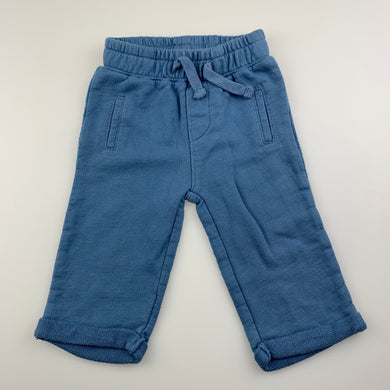 Boys Baby B'Gosh, blue soft cotton pants, elasticated, EUC, size 6 months