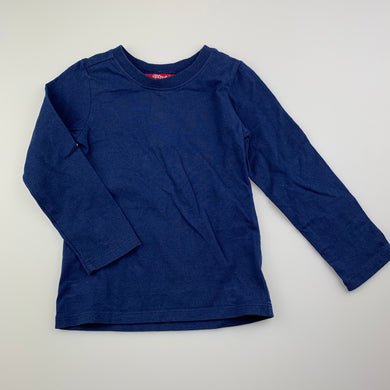 Boys Sprout, navy cotton long sleeve t-shirt / top, GUC, size 2