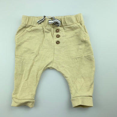 Unisex Anko Baby, beige organic cotton pants / bottoms, EUC, size 000