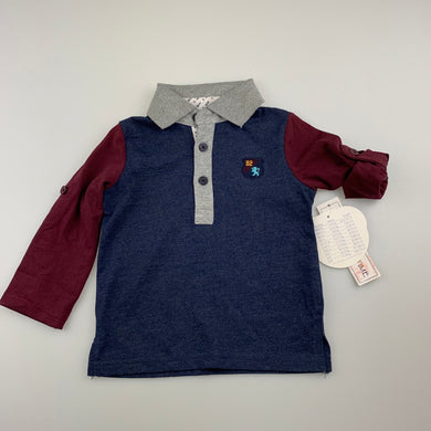Boys Babies R Us, soft feel polo shirt / top, NEW, size 0