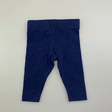Unisex Baby Berry, navy stretchy leggings / bottoms, GUC, size 0000
