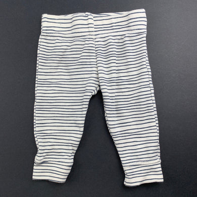 Unisex Anko Baby, striped cotton leggings / bottoms, GUC, size 00000