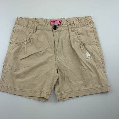Girls RCB Polo Club, lightweight cotton shorts, adjustable, GUC, size 11-12