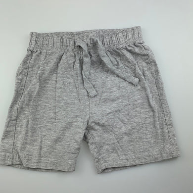 Unisex B Collection, grey marle shorts, elasticated, EUC, size 5